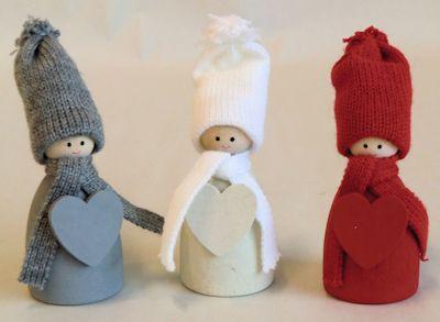 Tomtar/Santas - Med Hjärta/With Heart - Tomte med hjärta/Santa with heart - Vit/White