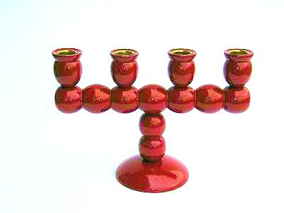 Ljusstake/Candle Holder - Adventsstake Klassisk/Advent Holder Classic - Adventsstake Klassisk/Advent Holder Classic - Röd/Red
