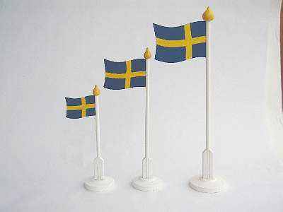 Svenska Flaggan/The Swedish Flag - 25 cm Svenska Flaggan/The Swedish Flag