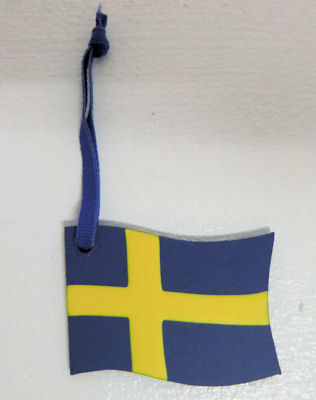 Dekorationer/Ornaments - Svenska Flaggan/The Swedish Flag - Dekorationer/Ornaments - Svenska Flaggan/The Swedish Flag