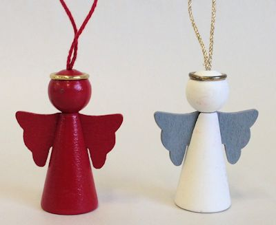 Dekorationer/Ornaments - Ängel/Angel - Dekorationer/Ornaments Ängel/Angel - Röd/Red