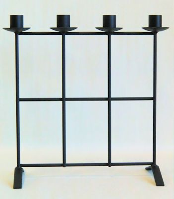 Ljusstake/Candle Holder - Adventsstake Galler/Advent Holder Grid - Adventsstake Galler/Advent Holder Grid