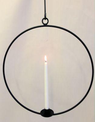 Ljusring Svart 58 cm
