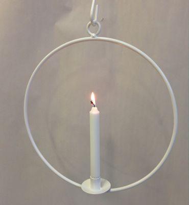 Ljusring Vit 36 cm