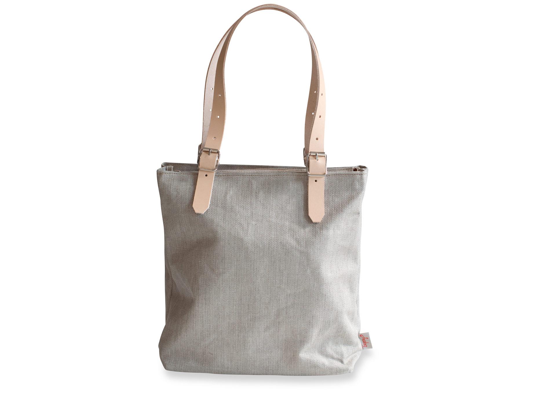 Handväska Sandkorn Oblekt