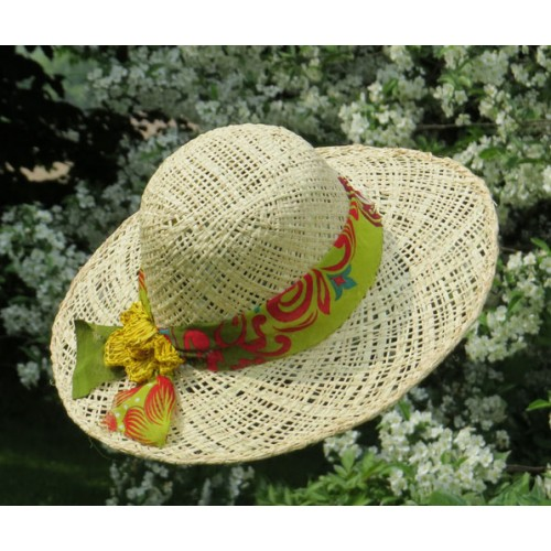 Chapeau makara floral 2