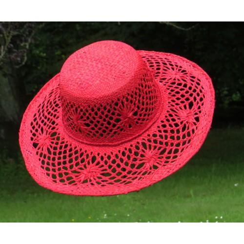 Chapeau Soleil Röd