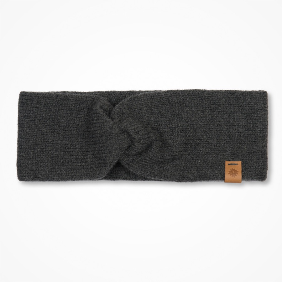 Märit Headband Charcoal Grey
