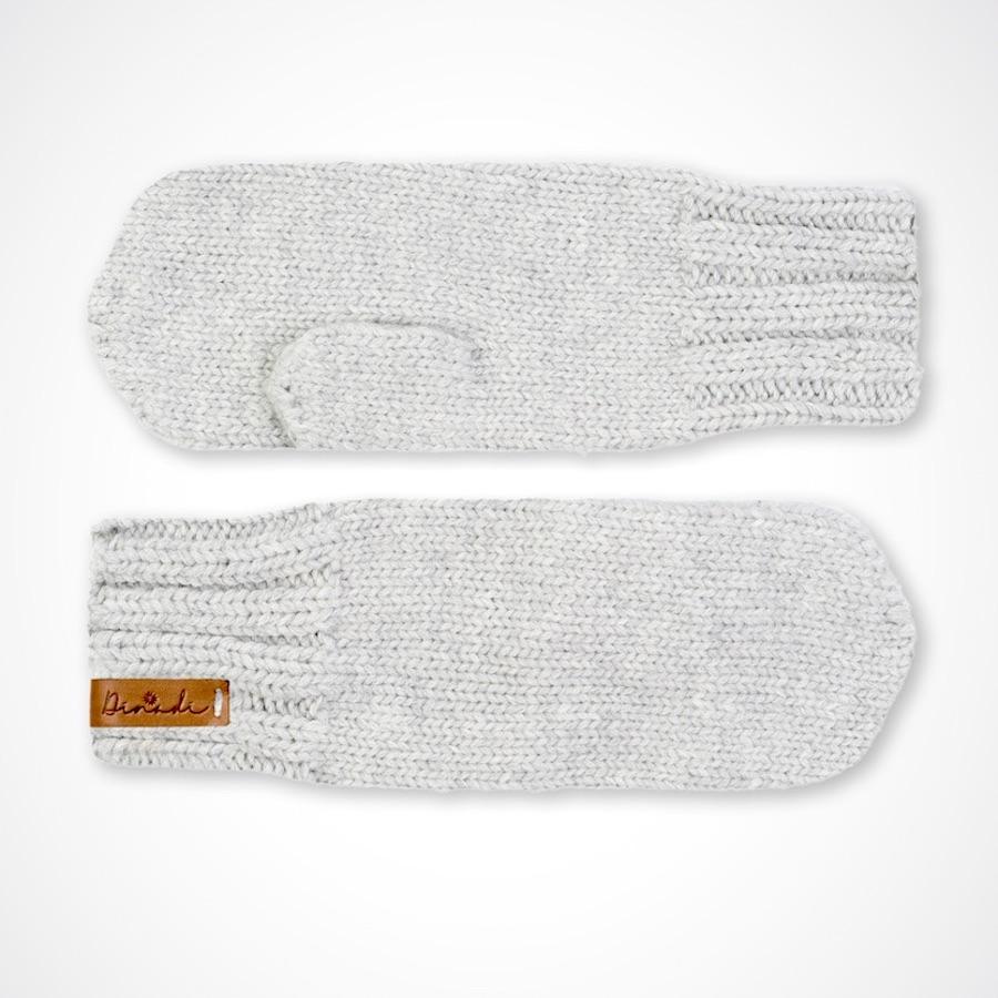 Klara Mittens Silver Grey