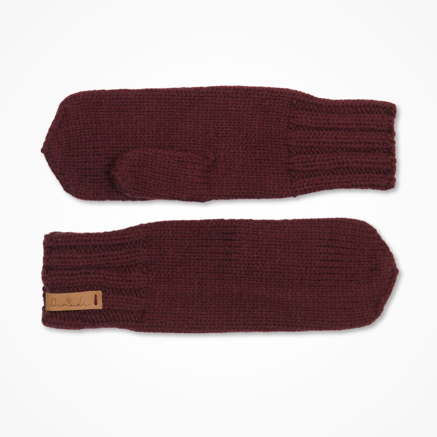 Klara Mittens Wine Red