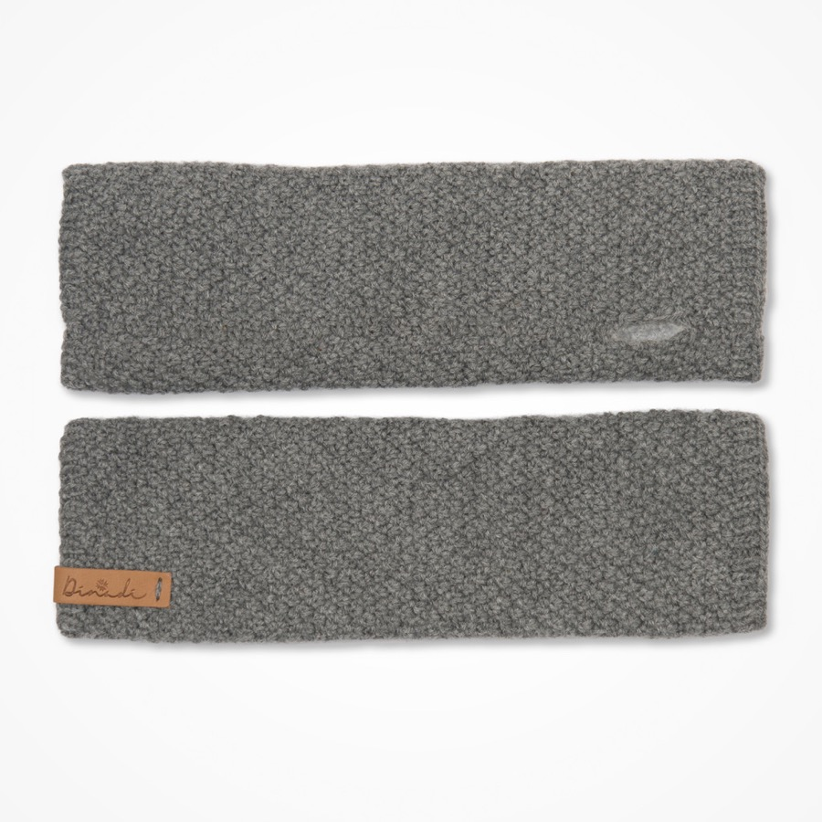 Stina Half Mitts Pebble Grey