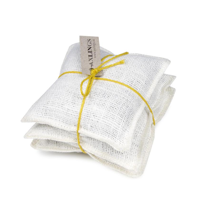 Säckväv benvit-citron linsnöre/Burlap offwhite/citrus string