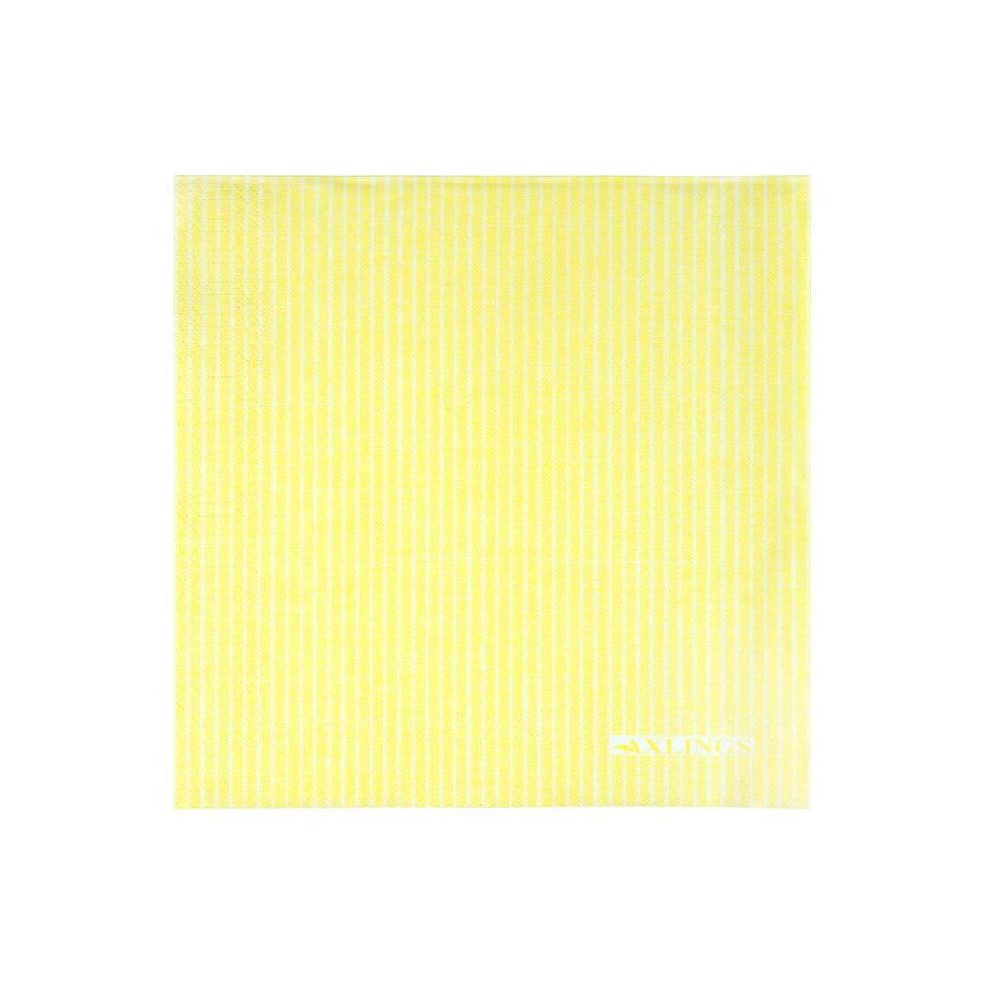 Pappersservett gul