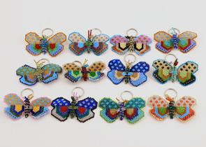 Nyckelring Fjärilar
