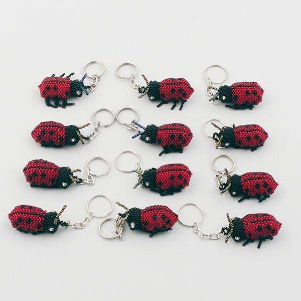 Nyckelring Nyckelpiga röd