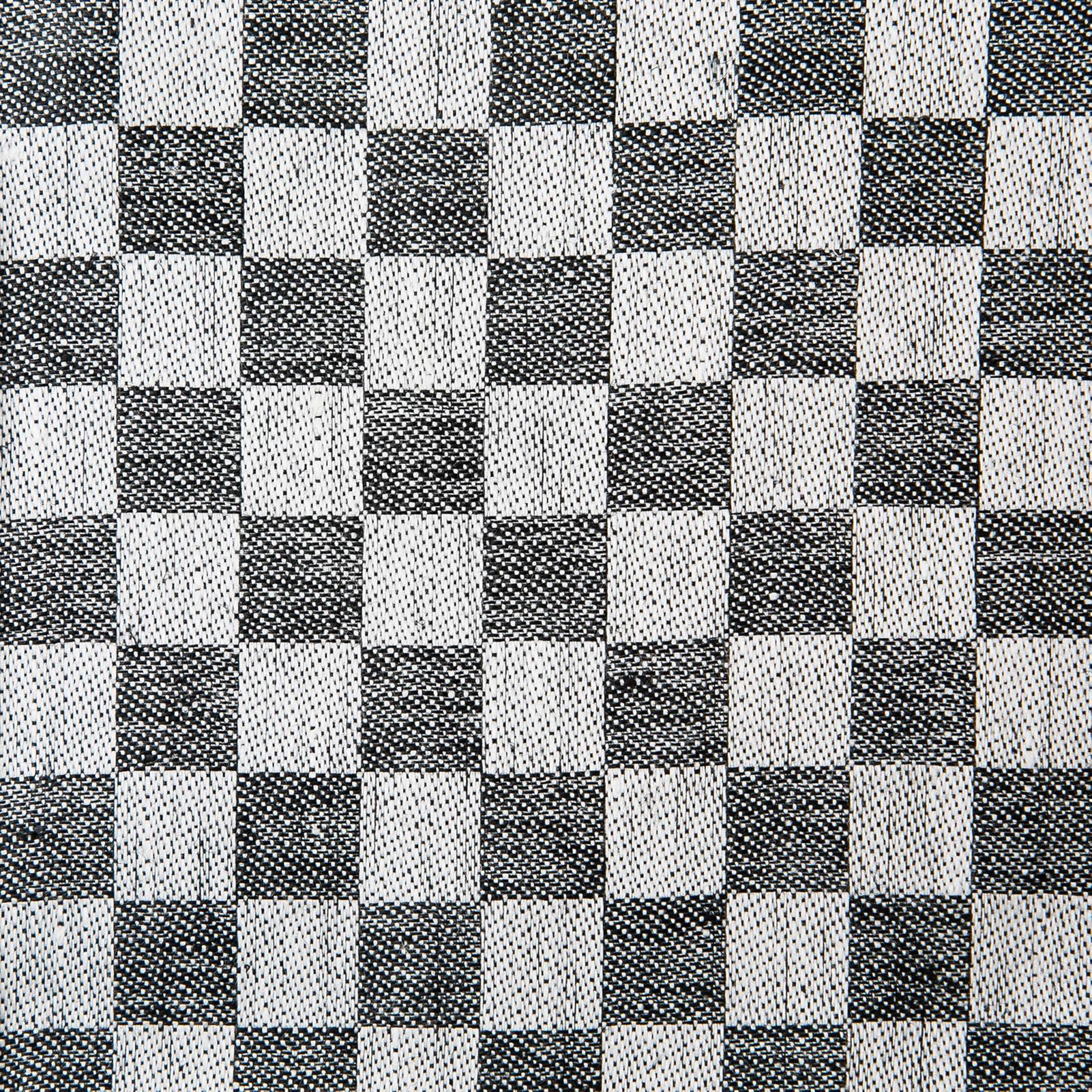 Schackrutan handduk svart