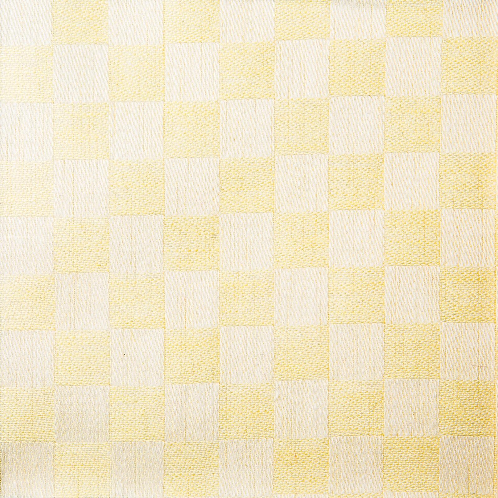 Schackrutan handduk gul