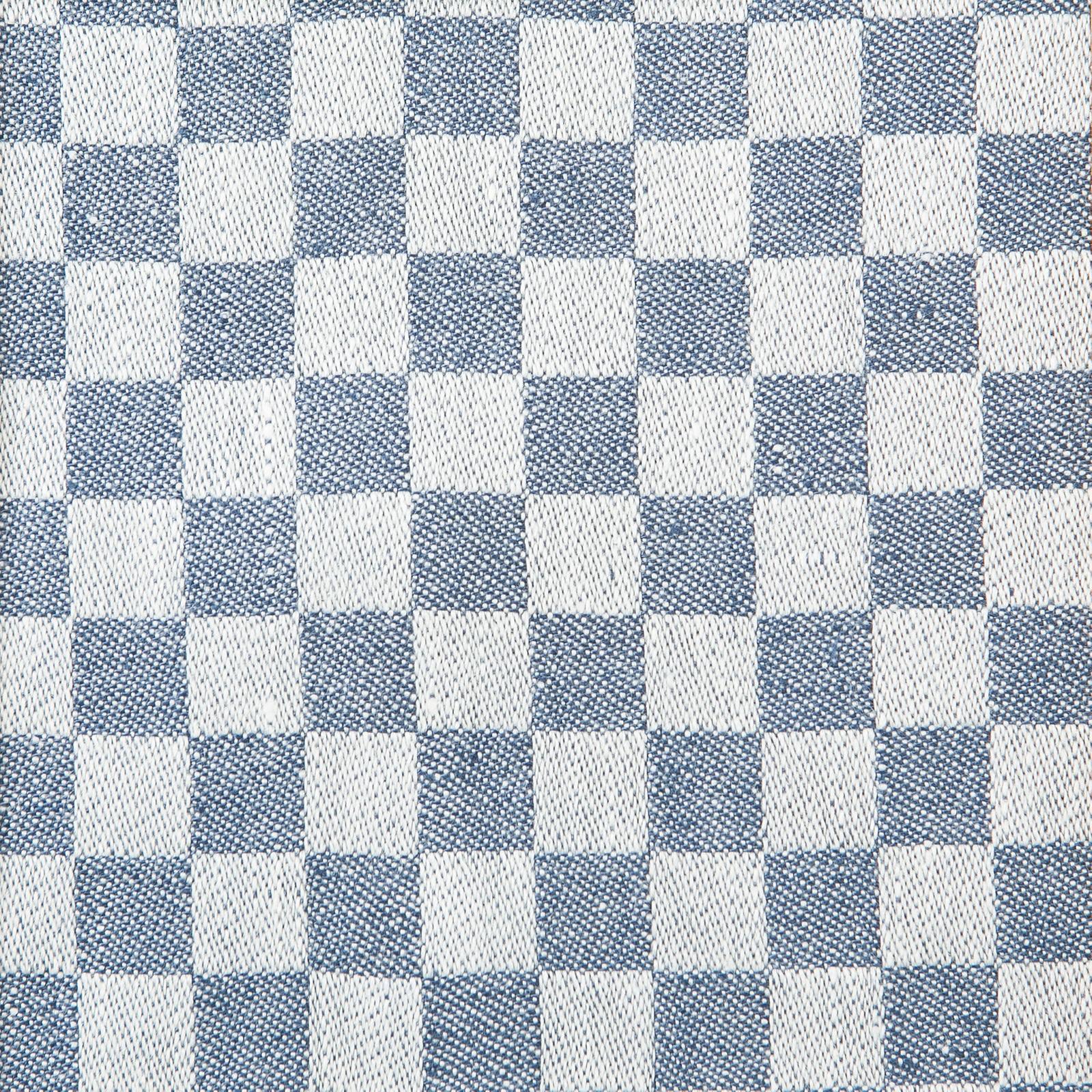 Schackrutan handduk jeansblå