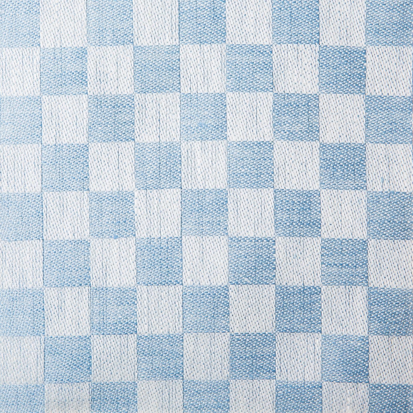 Schackrutan handduk ljusblå