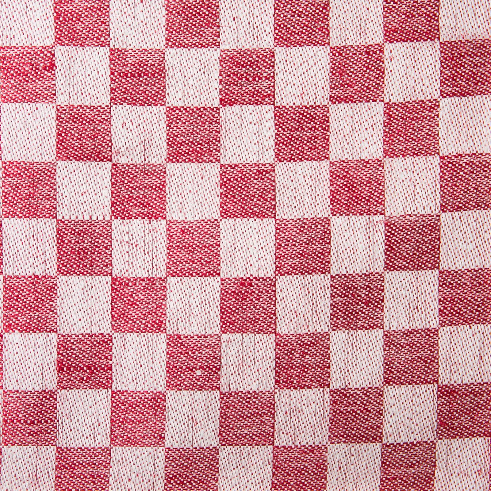 Schackrutan handduk röd