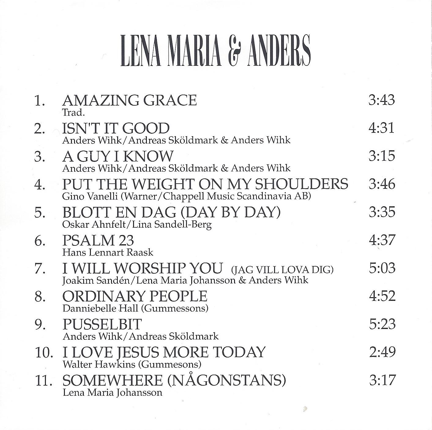 Lena Maria & Anders baksida