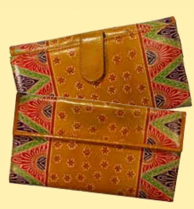 Handledsväska+Plånbok Guldbrun