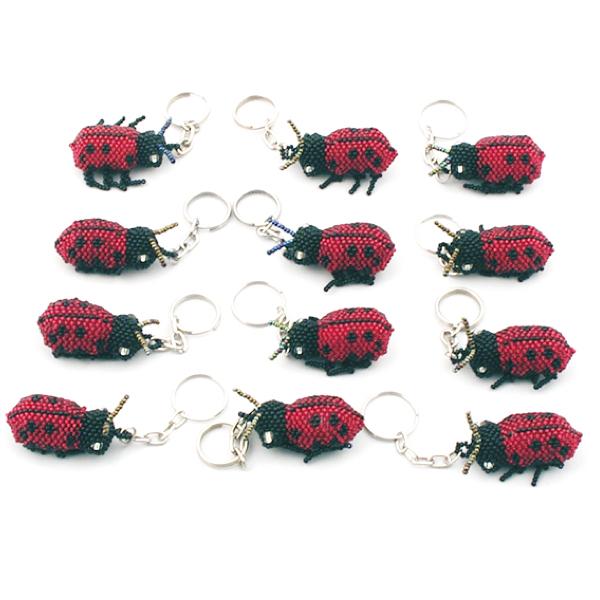 Nyckelring - Nyckelpiga Röd