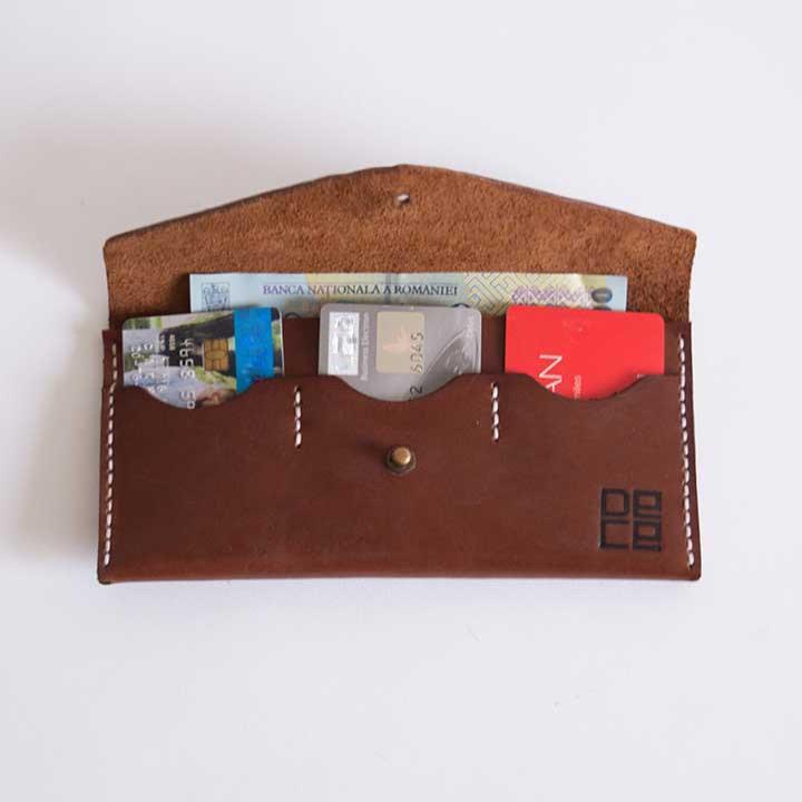 Plånbok Costel - Brun inuti