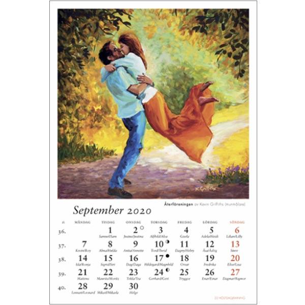 Konstkalender 2020 sept