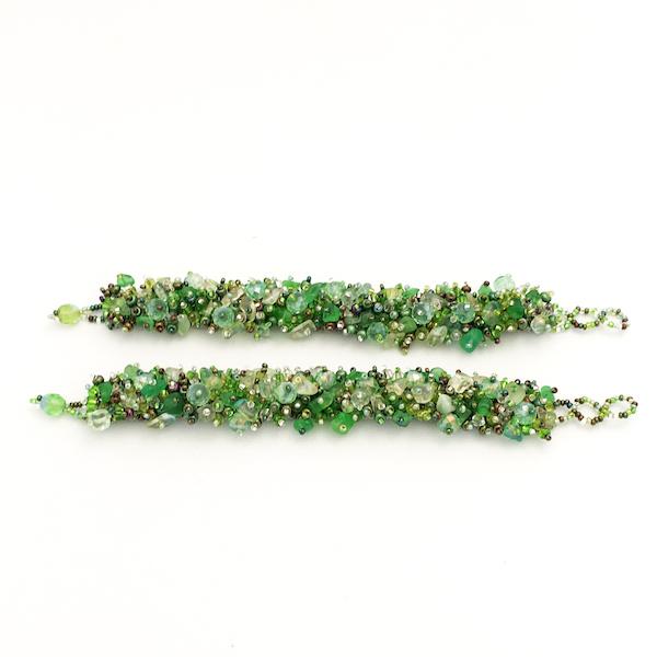 Armband Glimma grön