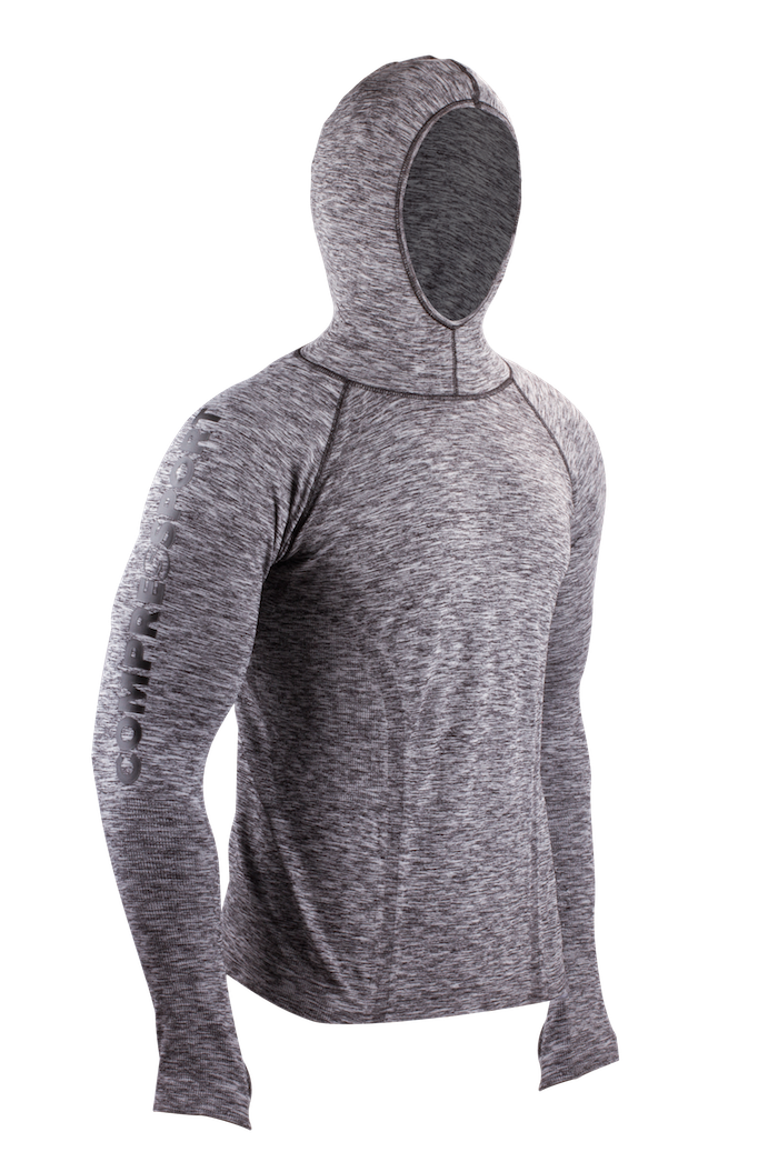 3D Thermo Hoodie Seamless - front 3-4 kopia
