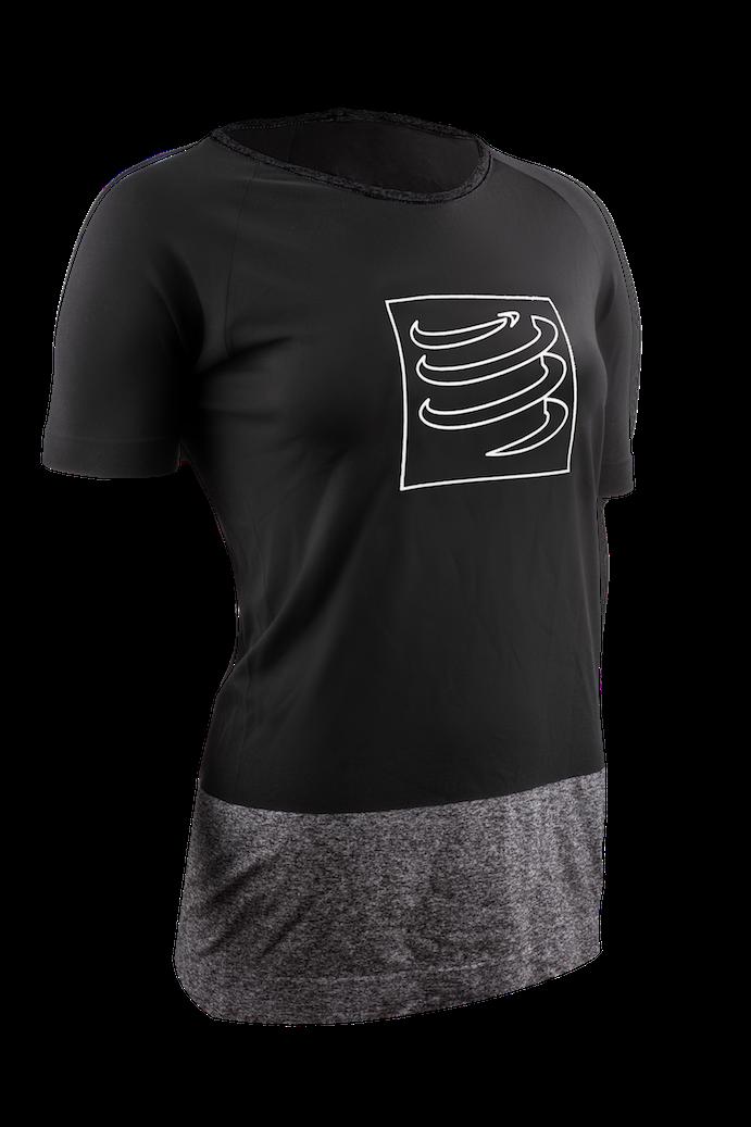 Training Tshirt Woman Black 3-4