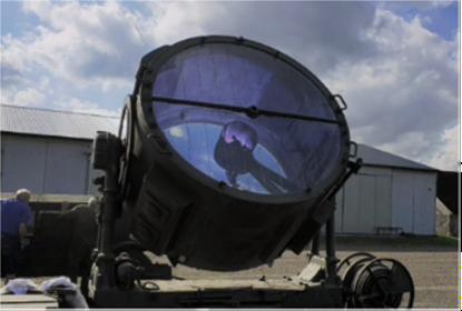 Luftvärnsstrålkastaren håller på att uppdateras och kommer att användas i oktober.