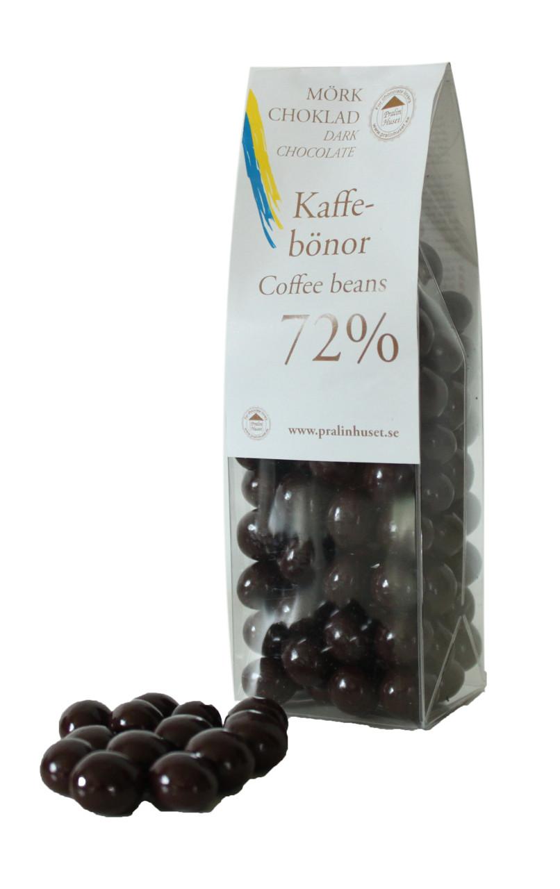 kaffebönor i choklad