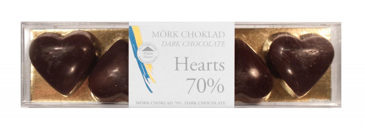 Pralinhuset - Hearts - 70% Kakao