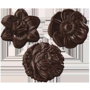 Pralinhuset - Choco Snacks - Chokladblommor Mörk -