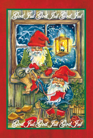 Julkort - Tomteverkstan -