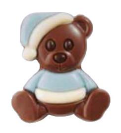 Pralin & Tryffel - Blå Nallebjörn - Ljus Choklad -