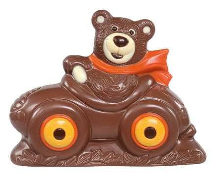 Chokladfigur - Björn i Bil - 150 gram -
