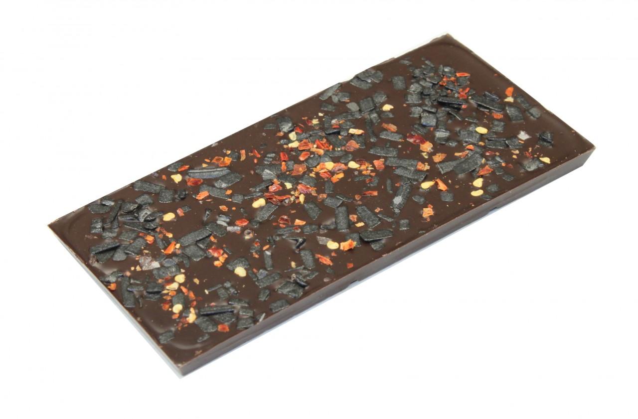 mörk choklad med lakrits