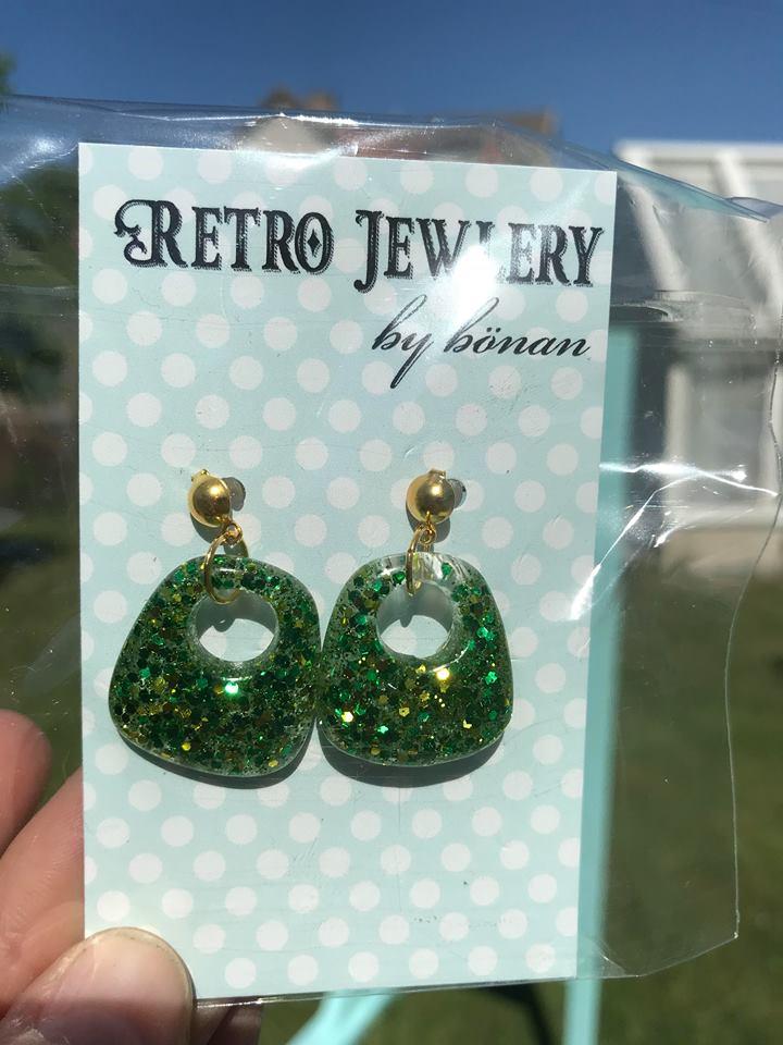 Maria grön glitter
