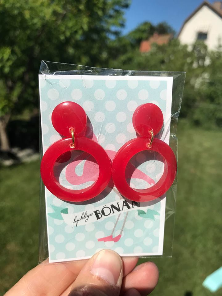 Cherry hoops röd