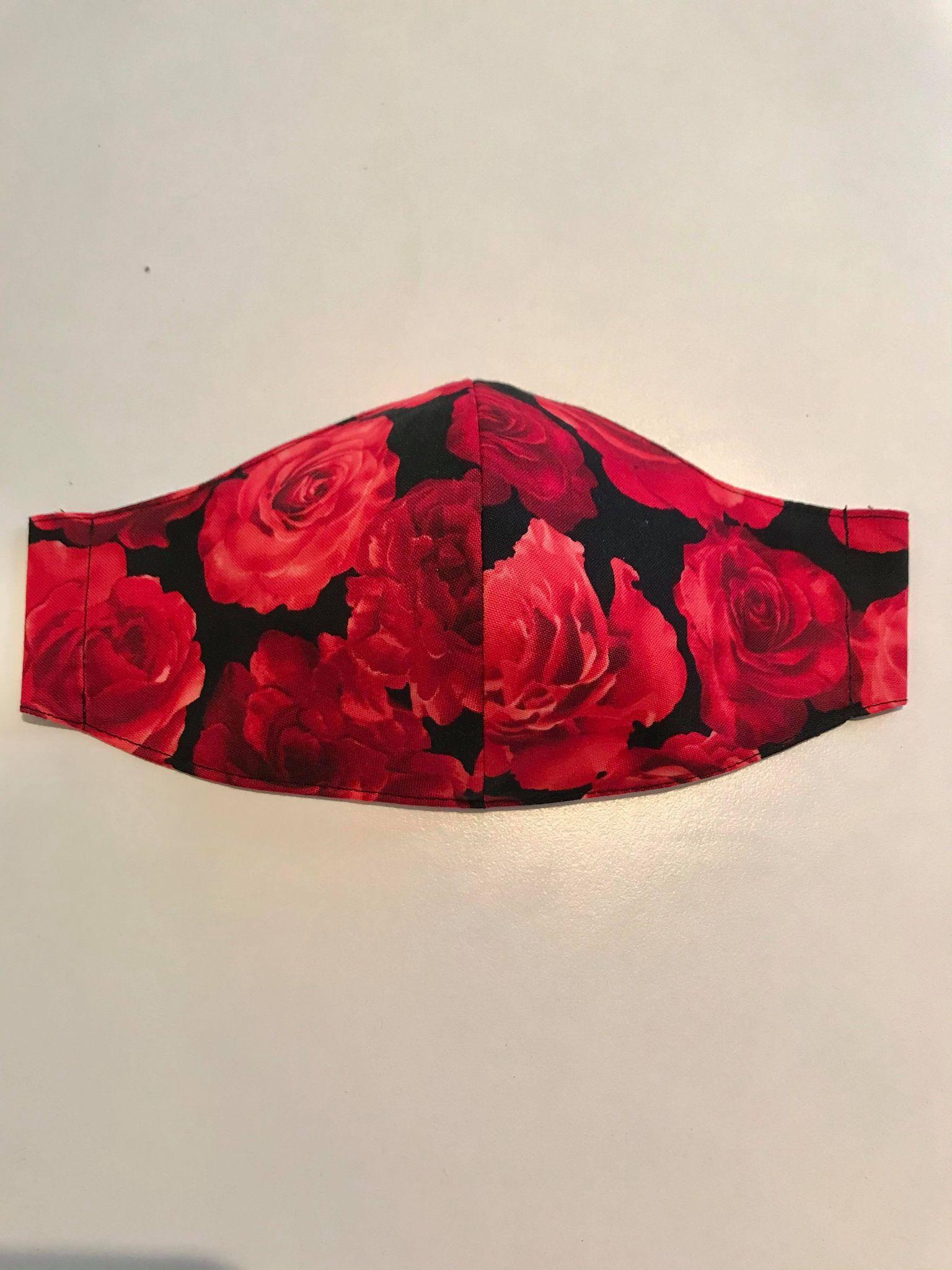 munskydd röda rosor