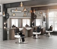 Barber Arbetsplats Retro färgval Made in Europ