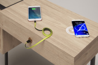 Arbetsbord Scandiano med USB laddning Made in Italy
