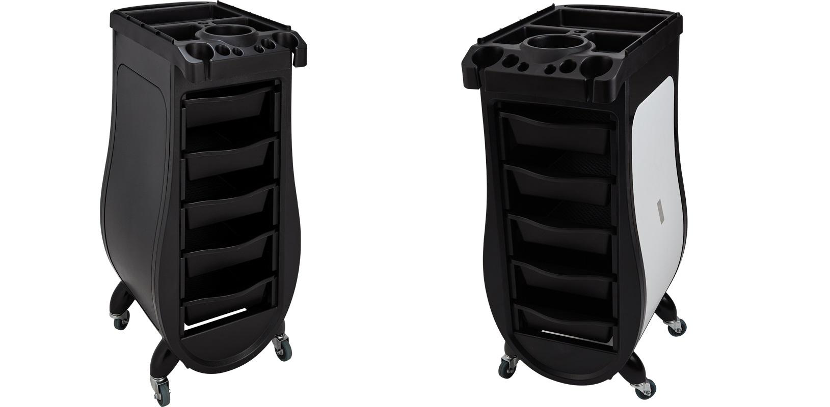 Arbetsvagn Signorina Design svart eller svart vit