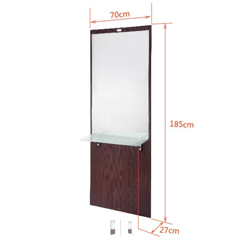 Arbetsplats Spegel brun storlek