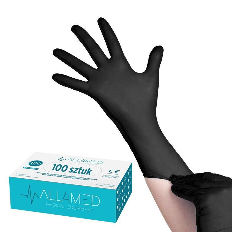 100stck. Engångsdiagnose handskar Nitril  SVART
