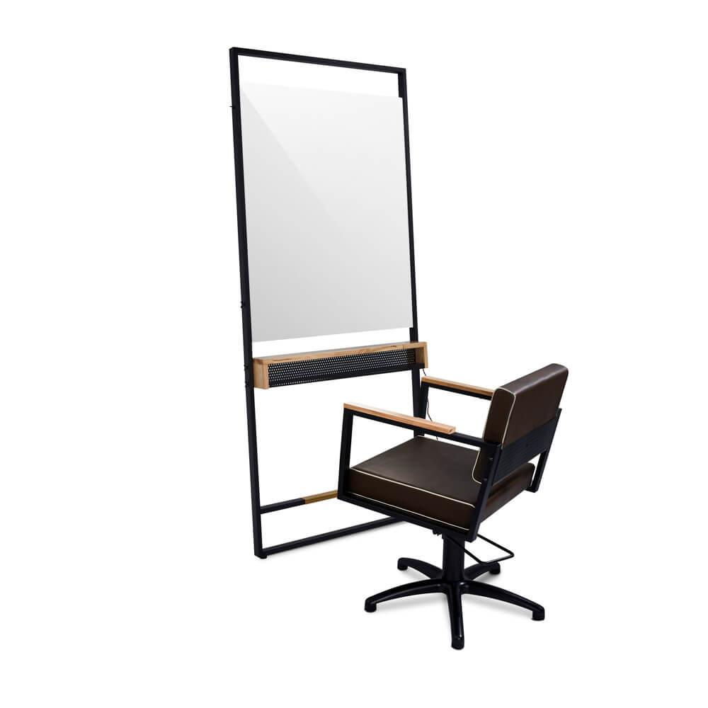Arbetsplats Robin Industrial med LED + stol Ocean