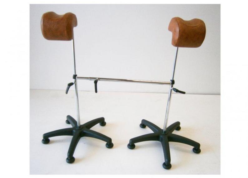 1 par rörliga benhållare för gynstol, gynekologi Made in Spain